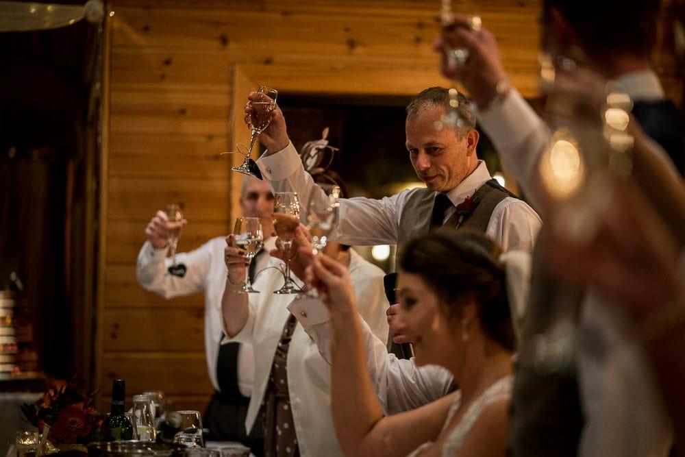 wedding toast tyal lodge wedding