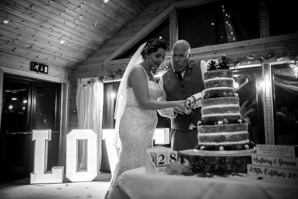 cake cutting at styal lodge
