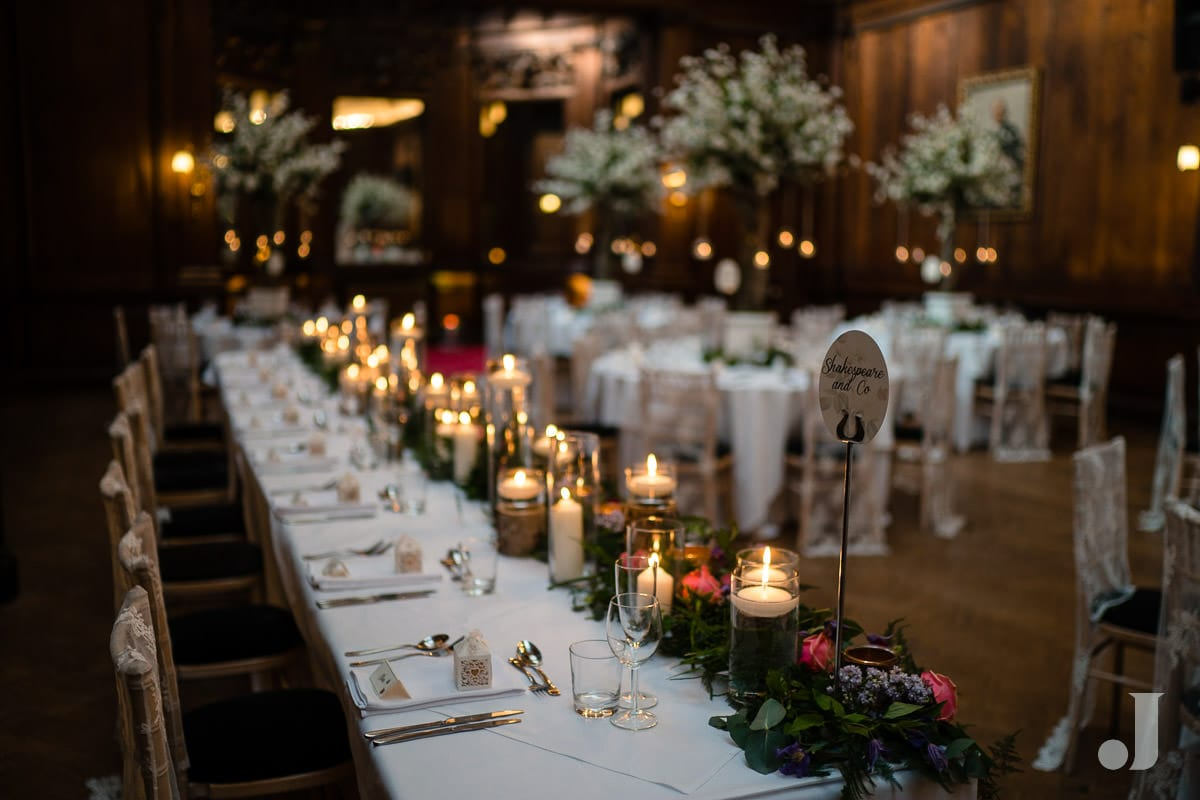 top table at Thornton Manor wedding