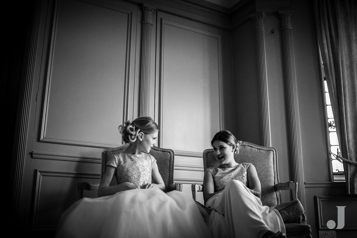bridesmaids at Thornton Manor