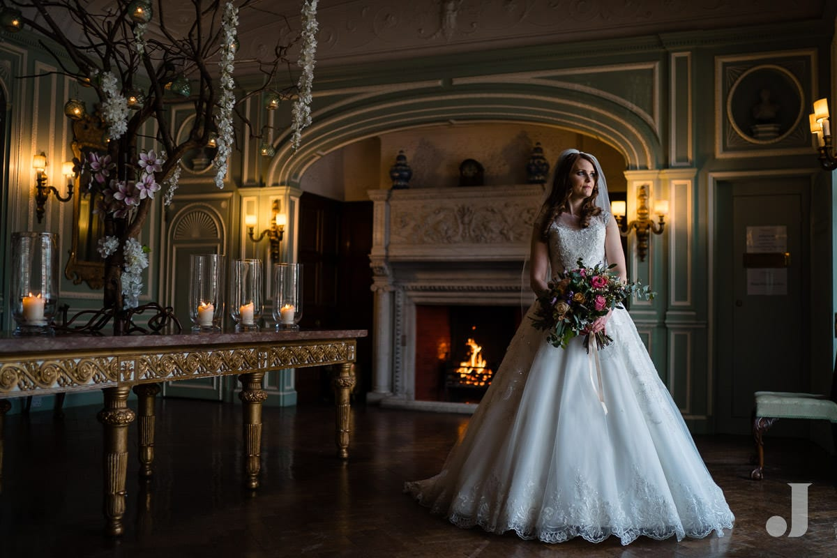 bridal portrait at Thornton Manor