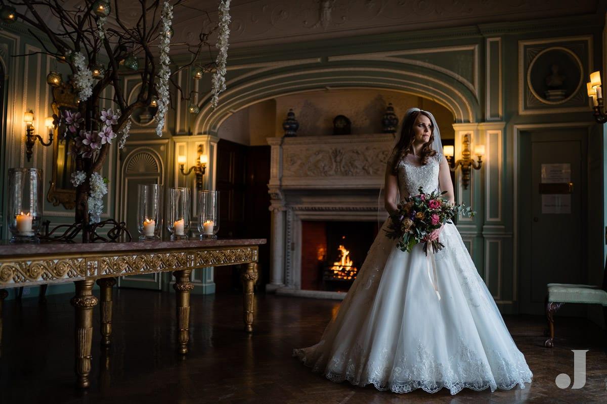 bridal portrait at Thornton Manor
