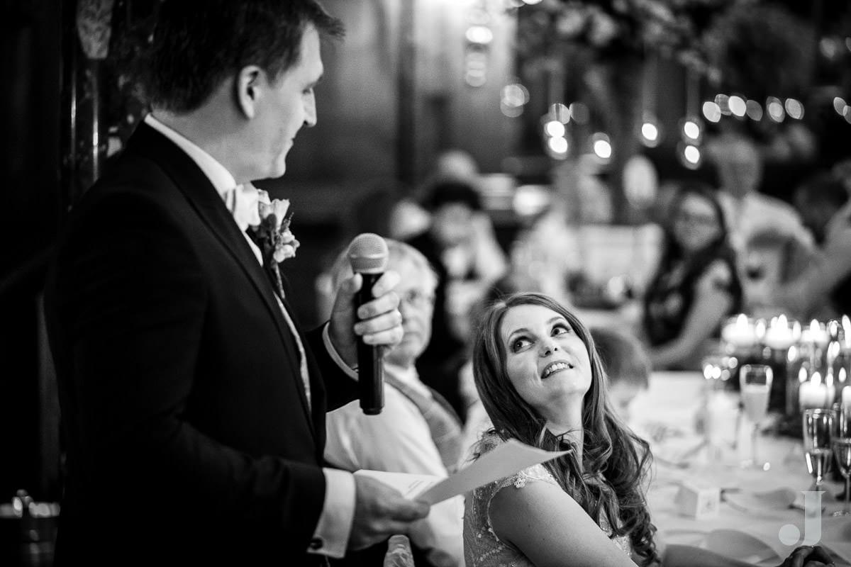 groom speech at Thornton Manor