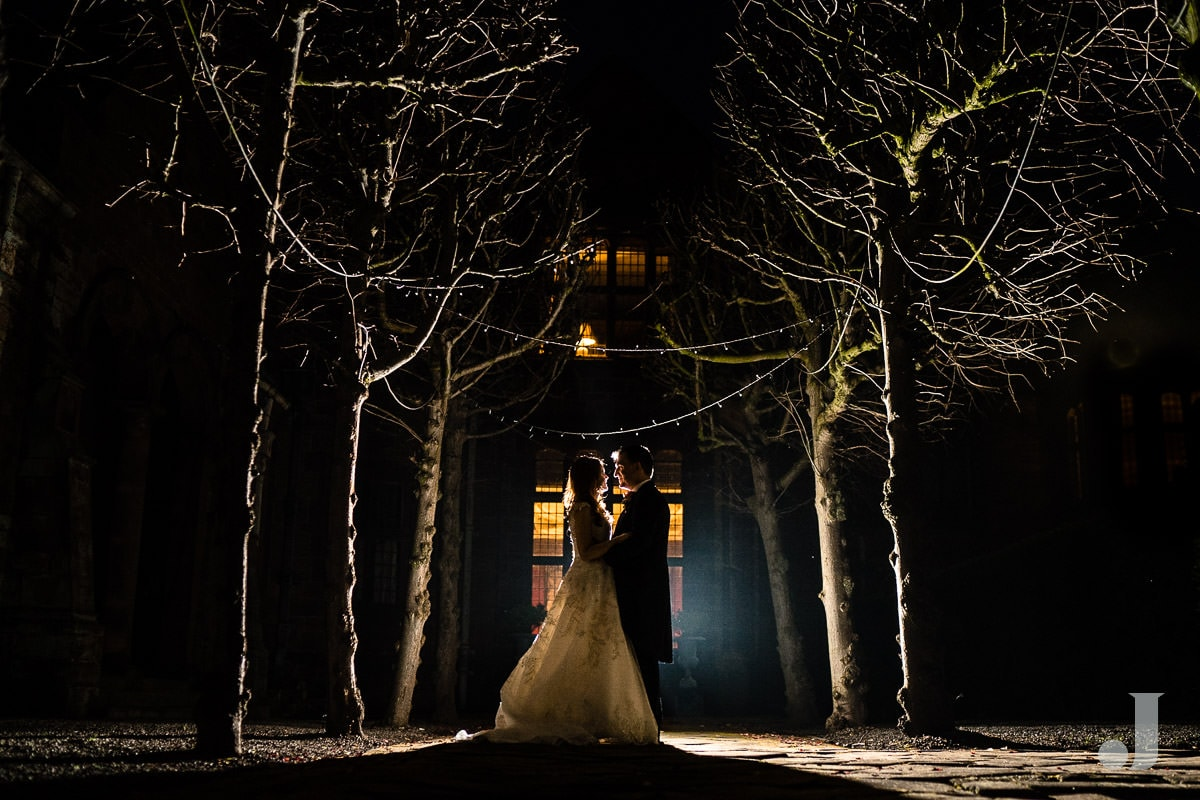 dramatic photo at Thornton Manor wedding