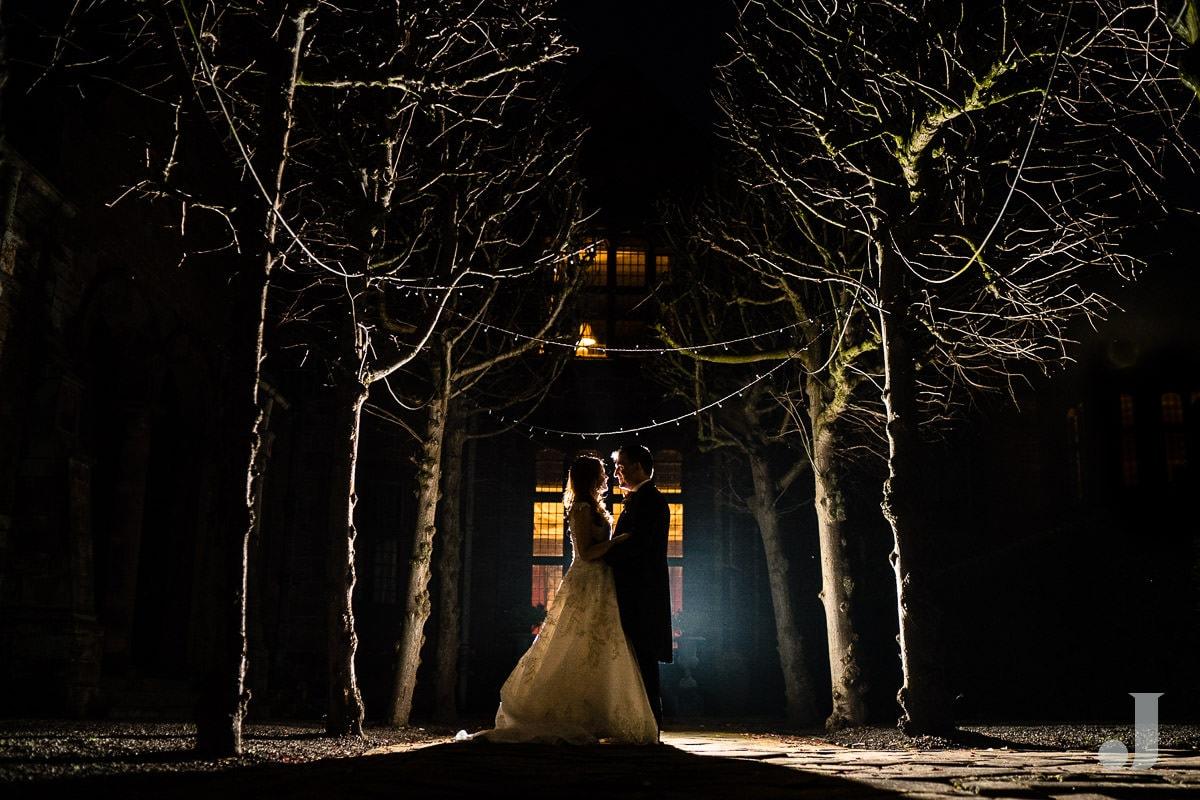 dramatic photo at Thornton Manor wedding