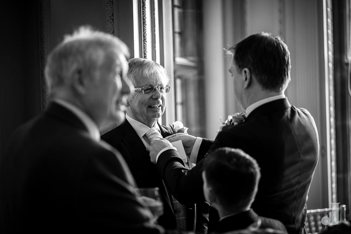 father of the bride at Thornton Manor wedding