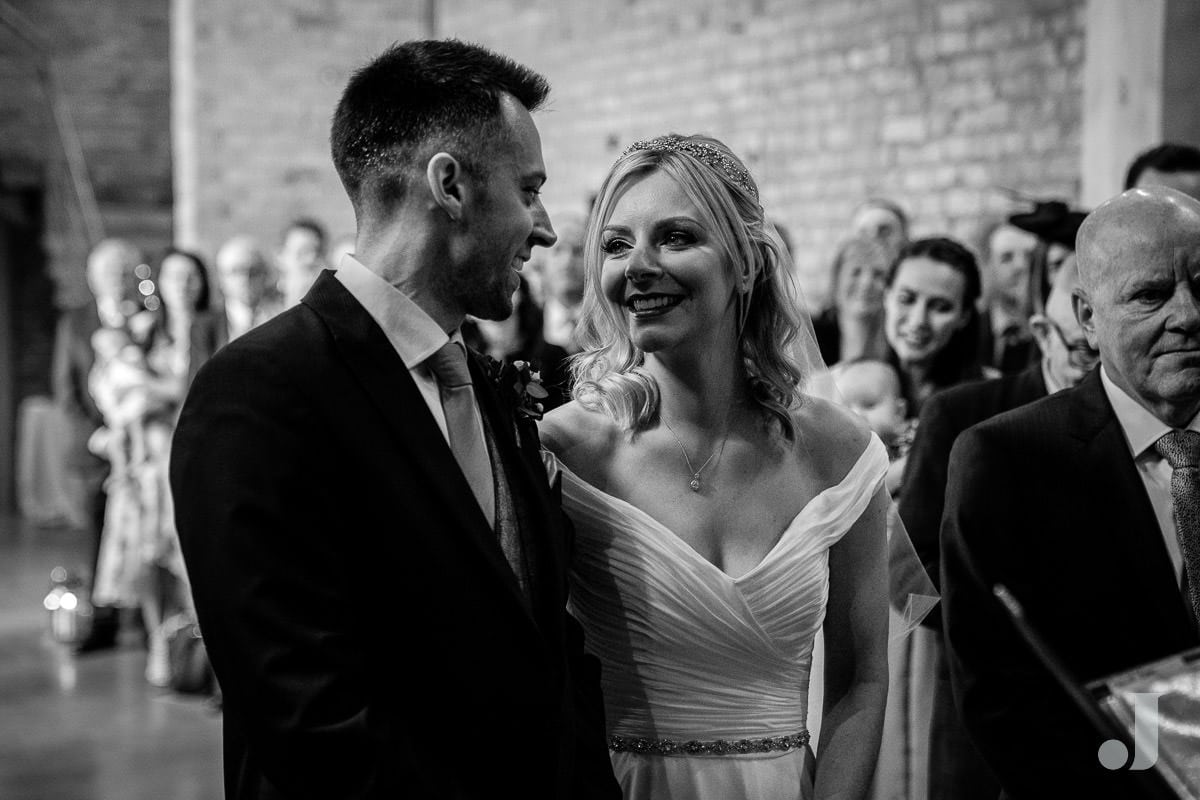 happy couple at their the holford estate wedding